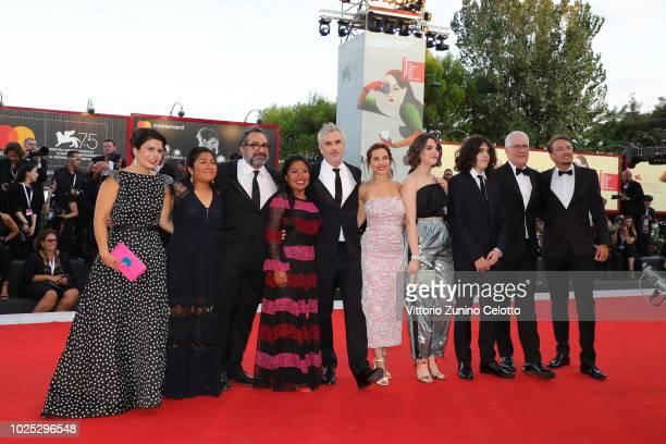 Gabriela Rodriguez, Nancy García García, guest, Yalitza Aparicio, Alfonso Cuarón, Marina de Tavira, Tess Bu Cuarón, Olmo Teodoro Cuarón, David Linde...