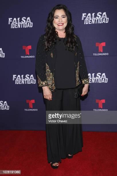 Gabriela Roel attends Falsa Identidad Telemundo series premiere at Argos Comunicacion on September 6 2018 in Mexico City Mexico