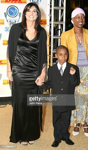 Gabriela Sabatini and guests during 2005 Premios Fox Sports Arrivals at Jackie Gleason Theater in Miami Beach Florida United States