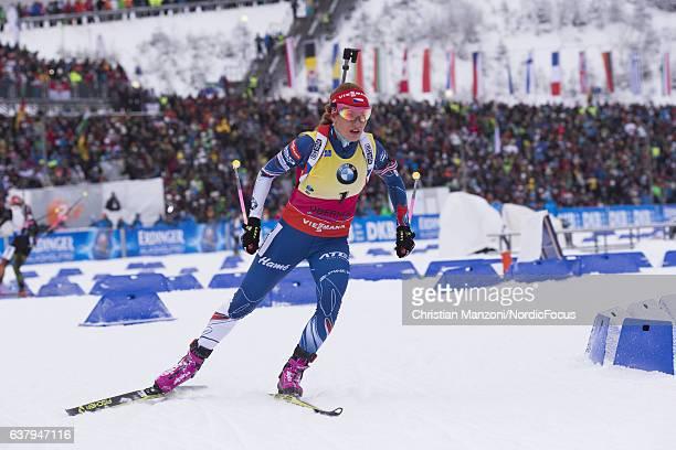 Gabriela Soukalova of the Czech Republic competes during the 12.5 km women's Mass Start on January 8, 2017 in Oberhof, Germany.