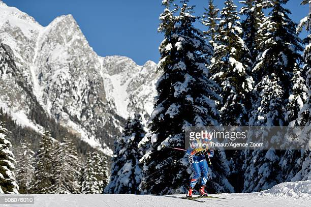 Gabriela Soukalova of the Czech Republic competes during the IBU Biathlon World Cup Women's Sprint on January 21 2016 in AntholzAnterselva Italy