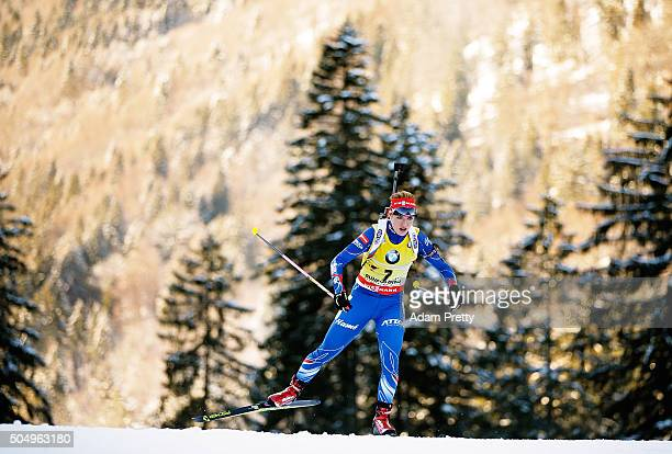 Gabriela Soukalova of the Czech Republic in action during the Women's 15km biathlon race at the IBU Biathlon World Cup Ruhpolding on January 14 2016...