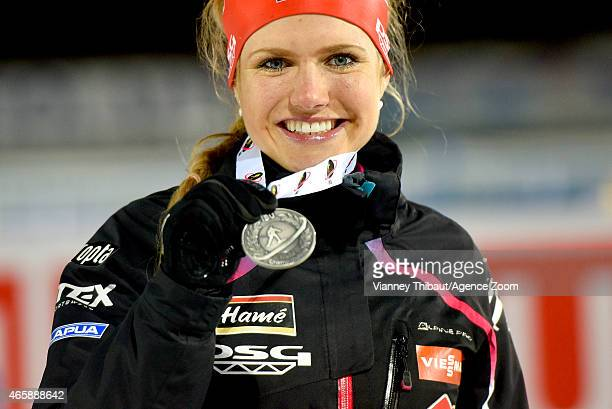 Gabriela Soukalova of the Czech Republic takes 2nd place during the IBU Biathlon World Championships Women's Individual on March 11 2015 in...