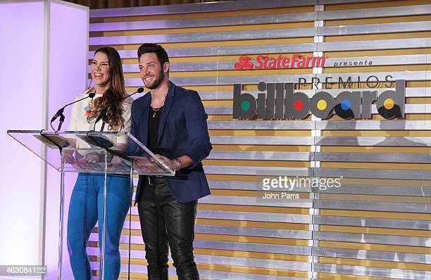 Gabriela Vergara and Gabriel Coronel attends Billboard Latin 2015 Finalists Nominations Press Conference on February 9 2015 in Doral Florida