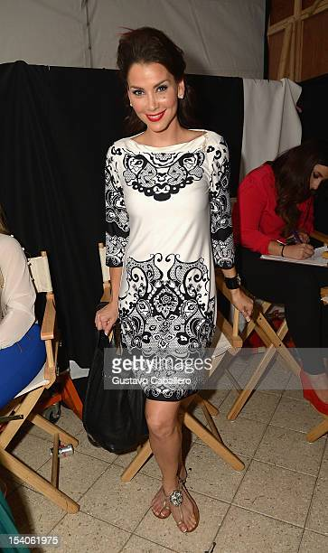 Gabriela Vergara attends the Red Dress Fashion Show at Funkshion to benefit Go Red For Women on October 12 2012 in Miami Beach Florida