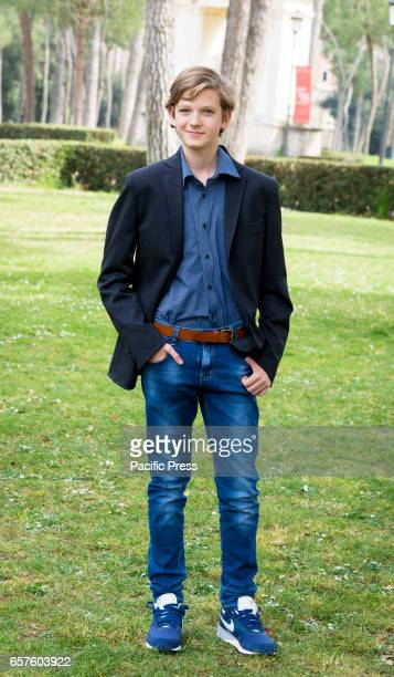Gabriele Caprio attends the photocall of 'La mia famiglia a soqquadro'
