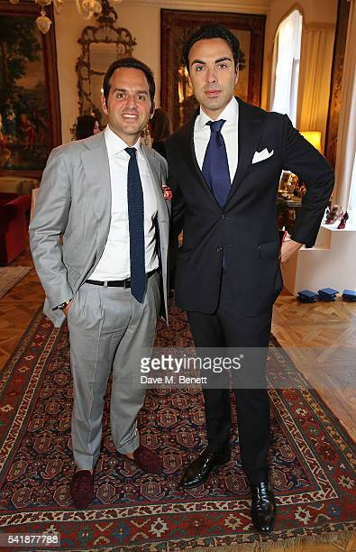 Gabriele Cerrone and Francesco Maniscalco at the presentation and cocktail reception to celebrate the launch of the 82nd edition of the MICAM the...