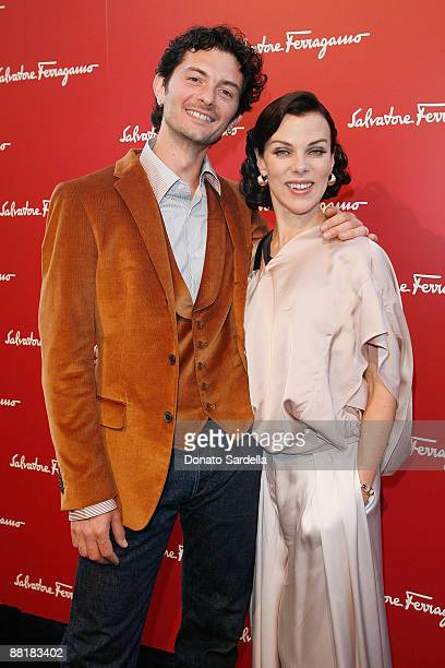 Gabriele Corcos and actress Debi Mazar attend the Ferragamo event with Debi Mazar and Adrian Grenier to benefit the L'Aquila earthquake victims at...