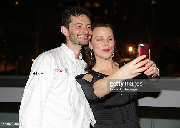 Gabriele Corcos and Debi Mazar attend Bold Italian Dinner Hosted By Scott Conant, Amanda Freitag, Debi Mazar & Gabriele Corcos during the Food...
