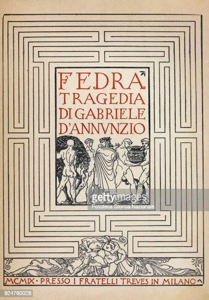 Gabriele D'Annunzio Frontispiece of the tragedy 'Fedra' illustrations by Adolfo De Carolis Flli Treves edition Italy Milan 1909