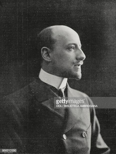 Gabriele D'Annunzio Italian poet and writer photograph by NunesVais from L'Illustrazione Italiana Year XXX No 20 May 17 1903