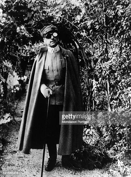 Gabriele D'Annunzio Italian poet and writer wounded in his right eye 1914