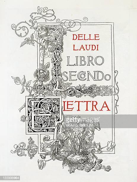 Gabriele D'Annunzio Laudi second book Elettra 1904 edition