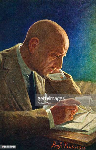 Gabriele DAnnunzio portrait of the Italian writer and poet reading 12 March 1863 1 March 1938