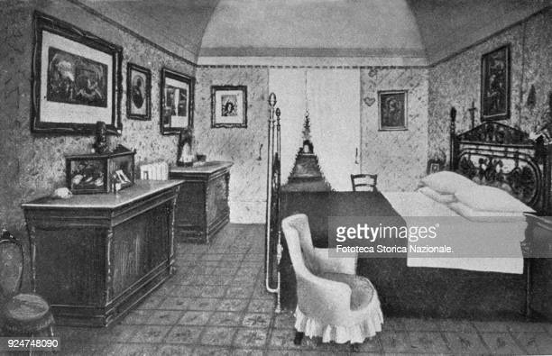 Gabriele D'Annunzio the room where the poet was born in Pescara Illustration from photography Italy approx 1892