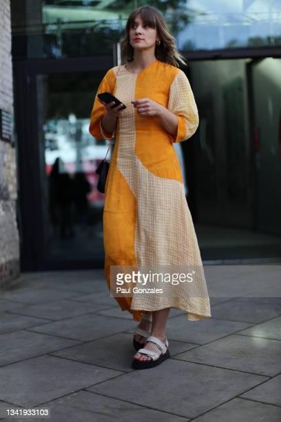 Gabriele Dirvanauskas is seen at COS during London Fashion Week September 2021 on September 21, 2021 in London, England.