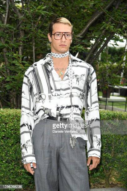 Gabriele Esposito is seen on the front row at the Etro fashion show on July 15 2020 in Milan Italy