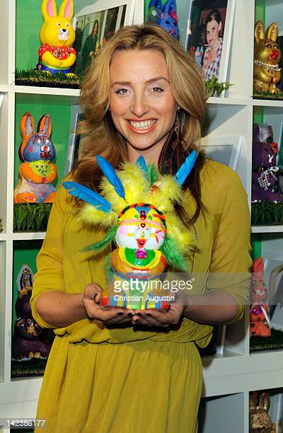 Gabriele Gottschalk attends Easter Bunny Charity Auction at Billstedt Shopping Centre on April 3 2012 in Hamburg Germany