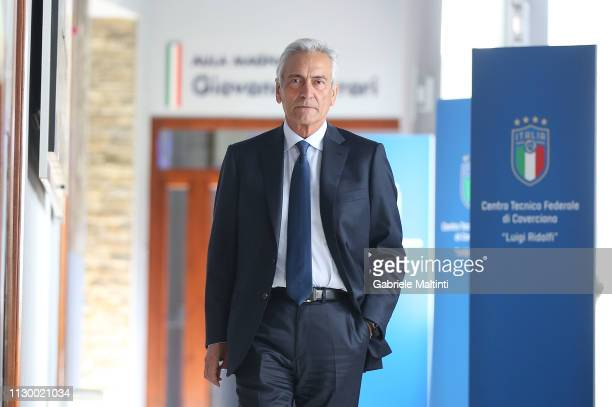 Gabriele Gravina president of FIGC at Centro Tecnico Federale di Coverciano on March 12 2019 in Florence Italy