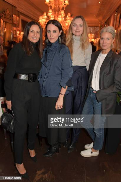 Gabriele Hackworthy Alessandra Facchinetti Jane McFarland and Deputy Editor of British Vogue Sarah Harris attend an intimate lunch to launch Time...