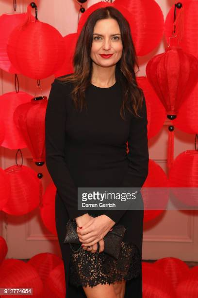 Gabriele Hackworthy attends the Wendy Yu's Chinese New Year celebration at Kensington Palace on January 31 2018 in London England