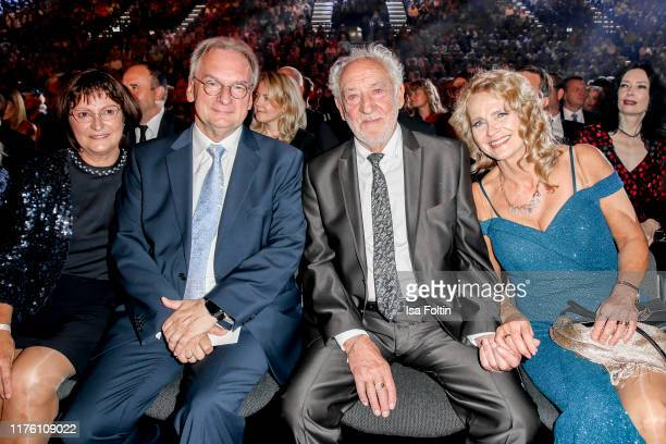 Gabriele Haseloff with her husband German politician Reiner Haseloff and German actor and comedian Dieter Hallervorden with his partner Christiane...