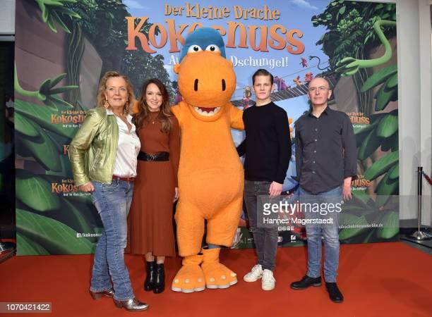 Gabriele M Walther Carolin Kebekus Max von der Groeben and Anthony Power attend the premiere for the film 'Der kleine Drache Kokosnuss Auf in den...