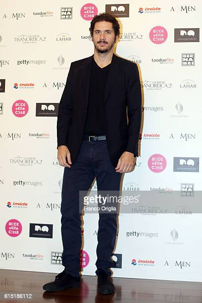 Gabriele Mainetti attends 'Alice Nella Citta' Jury Dinner during the 11th Rome Film Festival at on October 17 2016 in Rome Italy