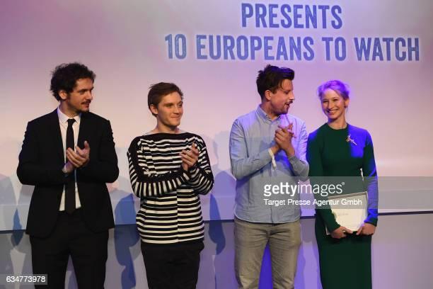 Gabriele Mainetti Jonas Nay Robin Pront and Reka Tenki attend the Medienboard BerlinBrandenburg Reception during the 67th Berlinale International...