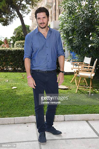 Gabriele Mainetti poses after the Kineo Diamanti Award press conference during the 73rd Venice Film Festival at on September 4 2016 in Venice Italy