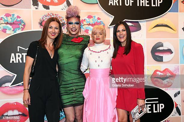 Gabriele Medingdoerfer General Director MAC Cosmetics Miss Candy Lily Allen Bettina Zimmermann during the presentation of 'Art of the Lip' by MAC...