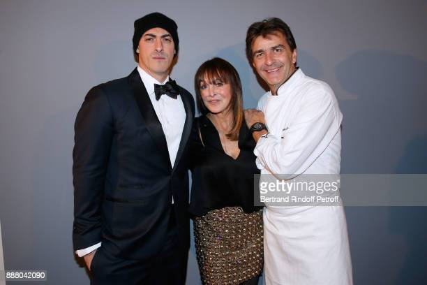 Gabriele Moratti Babeth Djian and Chef of Ledoyen Yannick Alleno attend the Annual Charity Dinner hosted by the AEM Association Children of the World...