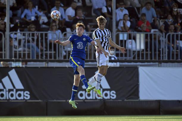 Gabriele Mulazzi of Juventus during the UEFA Youth League match between Juventus U19 and Chelsea FC U19 at Juventus Center Vinovo on September 29,...