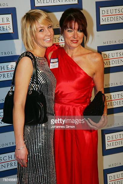 Gabriele Pauli and daughter Cornelia Balleis arrive at the German Media Awards at the Congress Hall on February 7 2007 in BadenBaden Germany