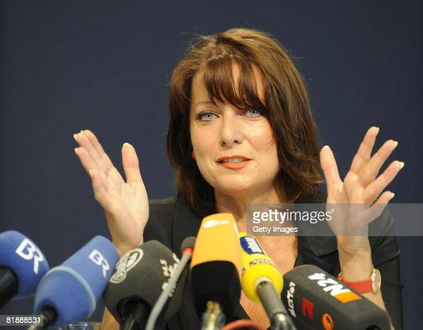 Bavarian politician Gabriele Pauli poses for the cameras