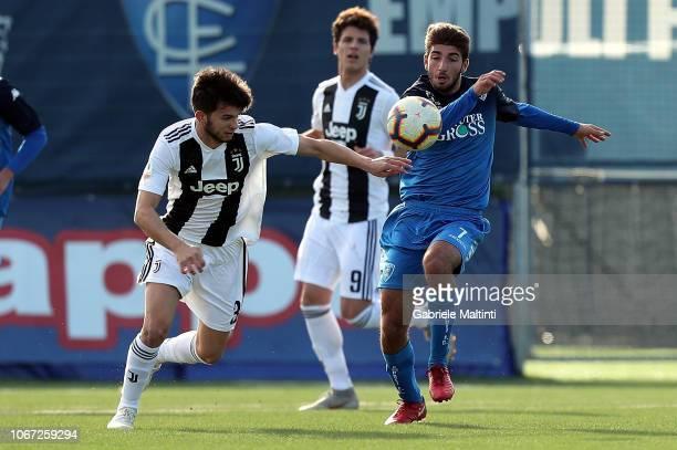 Gabriele Perretta of Empoli FC U19 during the match between Empoli U19 and Juventus U19 on December 1 2018 in Empoli Italy