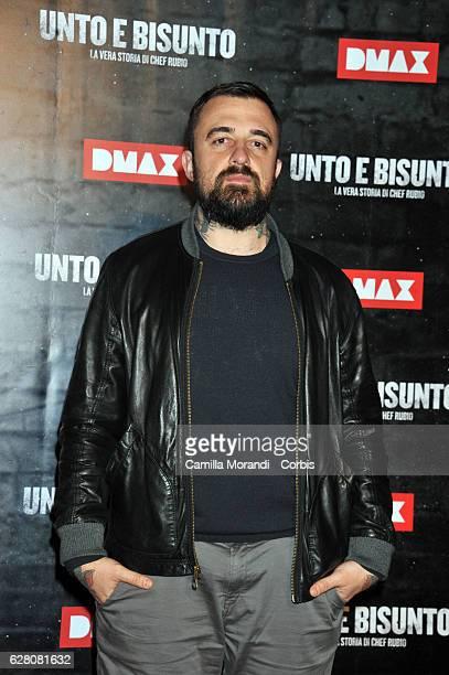 Gabriele RubiniChef Rubio attends 'Unto E Bisunto' premiere on December 6 2016 in Rome Italy