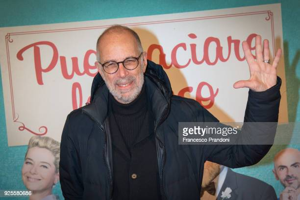 Gabriele Salvatores attends a photocall for 'Puoi Baciare Lo Sposo' on February 28 2018 in Milan Italy