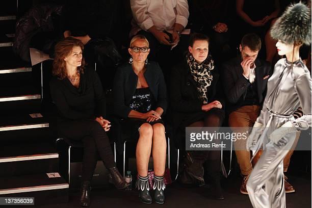 Gabriele Scharnitzky and Natascha Ochsenknecht attend the Guido Maria Kretschmer Autumn/Winter 2012 fashion show during MercedesBenz Fashion Week...