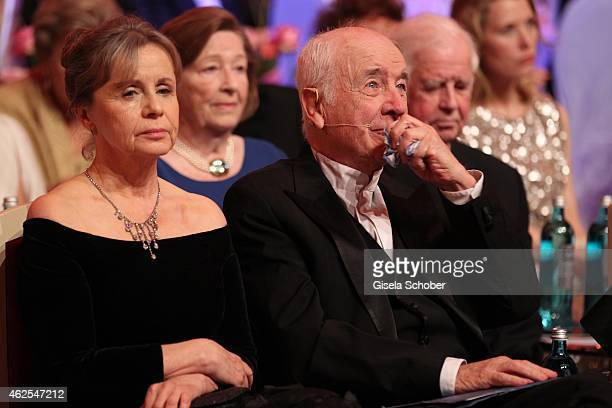 Gabriele Scholz and her husband Armin MuellerStahl crying during the Semper Opera Ball 2015 at Semperoper on January 30 2015 in Dresden Germany