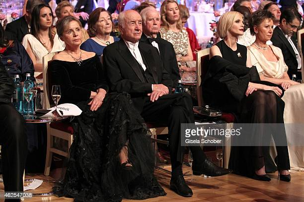 Gabriele Scholz Armin MuellerStahl Nadja Auermann during the Semper Opera Ball 2015 at Semperoper on January 30 2015 in Dresden Germany