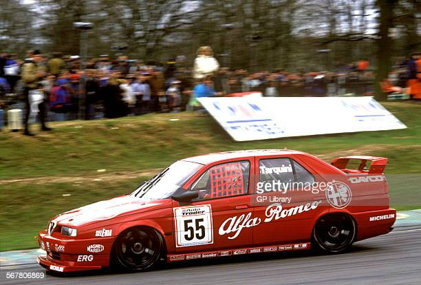 Gabriele Tarquini in an Alfa Romeo 155T racing at Brands Hatch England 1994