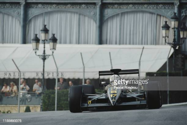Gabriele Tarquini of Italy drives the Automobiles Gonfaronaise Sportive AGS JH25 Ford Cosworth DFR V8 during pre qualifying for the Grand Prix of...