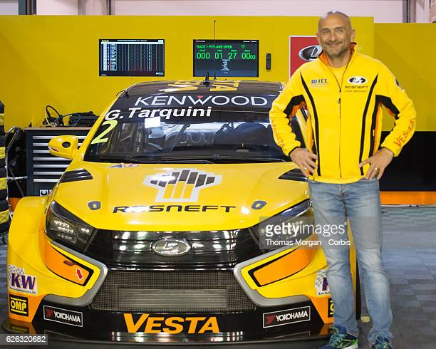 Gabriele Tarquini who drives Lada for Lada Sport Rosneft during the final round of the FIA World Touring Car Championship at Losail Circuit on...