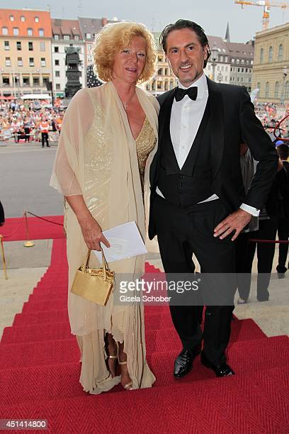 Gabriele von Thun and Peter Buchberger attend the 'Guillaume Tell' Opera Premiere at the Opera Festival Opening In Munich on June 28 2014 in Munich...