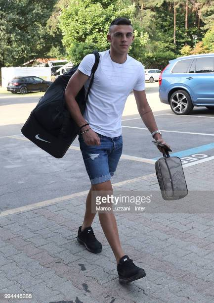 Gabriele Zappa of FC Internazionale arrives at the club's training ground Suning Training Center in memory of Angelo Moratti on July 9 2018 in Como...