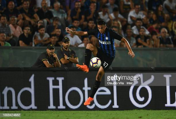 Gabriele Zappa of FC Internazionale controls the ball during the preseason match between FC Internazionale and FC Zenit Saint Petersburg at Arena...