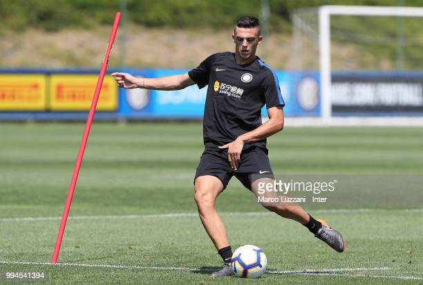 Gabriele Zappa of FC Internazionale in action during the FC Internazionale training session at the club's training ground Suning Training Center in...