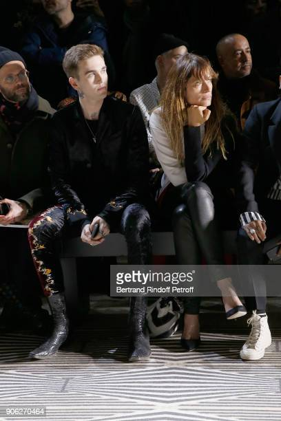GabrielKane DayLewis and Caroline de Maigret attend the Haider Ackermann Menswear Fall/Winter 20182019 show as part of Paris Fashion Week on January...