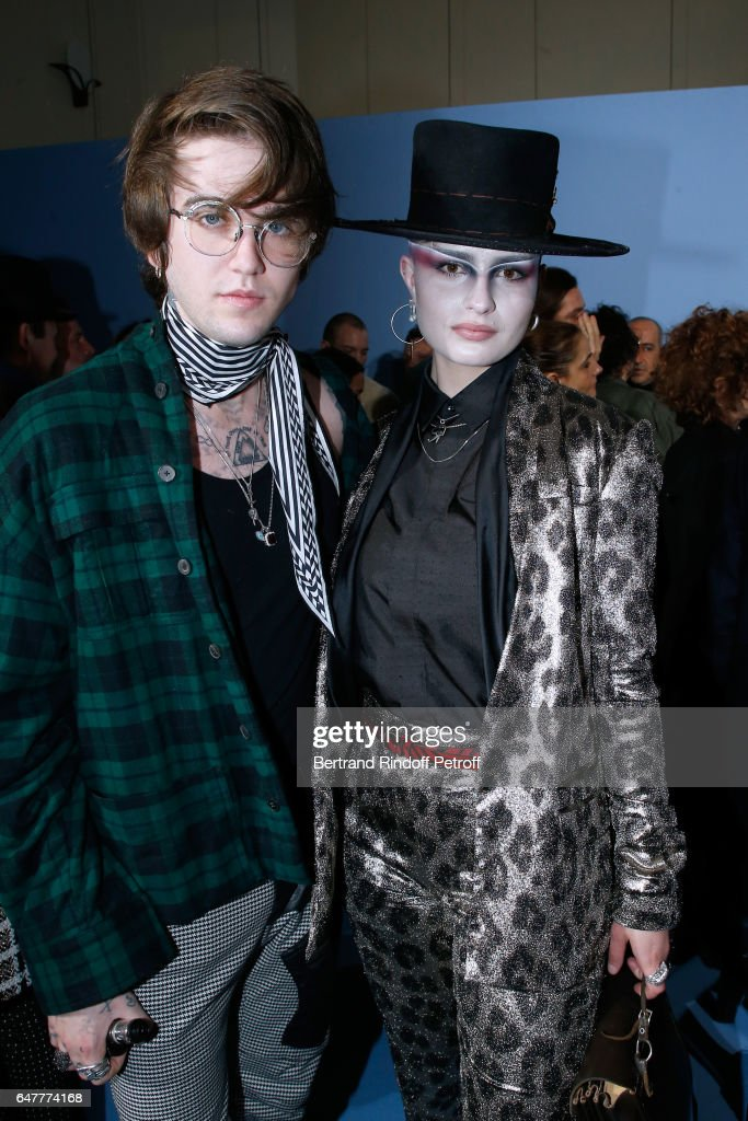 Gabriel-Kane Day-Lewis and Cuba Tornado Scott attend the Haider Ackermann show as part of the Paris Fashion Week Womenswear Fall/Winter 2017/2018 on March 4, 2017 in Paris, France.